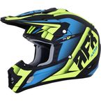 Matte Black/Green/Blue FX-17 Force Helmet  - 0110-5216