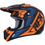 Matte Black/Orange/Blue FX-17 Force Helmet - 0110-5222
