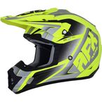 Matte Neon Yellow/Silver FX-17 Force Helmet  - 0110-5234