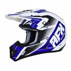 Pearl White/Blue FX-17 Force Helmet - 0110-5240
