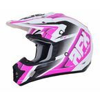 Pearl White/Fuchsia FX-17 Force Helmet - 0110-5258