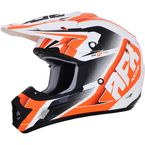 Pearl White/Orange FX-17 Force Helmet  - 0110-5264