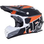 Frost Gray/Orange FX-21 Pinned Helmet - 0110-5332