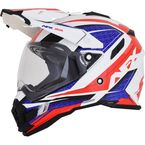 Red/White/Blue FX-41 DS Eiger Helmet  - 0110-5347