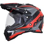 Black/Red FX-41 DS Eiger Helmet  - 0110-5352