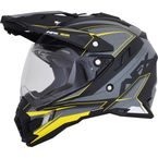 Frost Gray/Neon Yellow FX-41 DS Eiger Helmet - 0110-5361