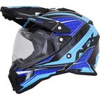 Black/Blue/Light Blue FX-41 DS Eiger Helmet - 0110-5367