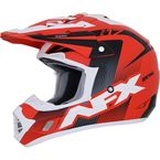 Red/Black/White  FX-17Y Youth Holeshot Helmet - 0111-1107