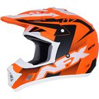 Matte Neon Orange/Black/White  FX-17Y Youth Holeshot Helmet - 0111-1110