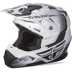 Youth Matte White/Black Toxin Helmet - 73-8510YL