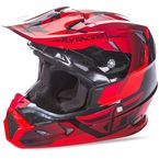 Youth Red/Black Toxin Helmet - 73-8512YM