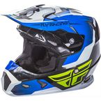 Blue/Black/White Toxin Helmet - 73-8513M