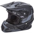 Youth Matte Black/Gray Toxin Helmet - 73-8515YL