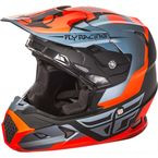 Youth Matte Orange/Black/Gray Toxin Helmet - 73-8516YM