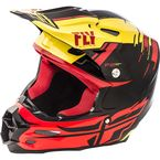 Yellow/Red/Black F2 Carbon MIPS Peick Replica Helmet - 73-4098L