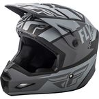 Matte Gray/Black Elite Guild Helmet - 73-8600S