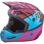 Matte Neon Pink/Blue/Black Elite Guild Helmet - 73-8609M
