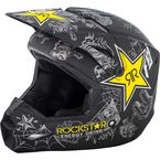 Matte Black/Charcoal/Yellow Elite Rockstar Helmet - 73-3308X