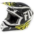 Black/White Kinetic Burnish Helmet - 73-3391L