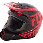 Black/Red/Orange Kinetic Burnish Helmet - 73-3392M