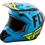 Youth Blue/Black Kinetic Burnish Helmet - 73-3393YM