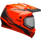 Orange/Black MX-9 Adventure Snow Torch Helmet w/Dual Lens Shield - 7090621