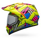 Hi-Viz/Pink MX-9 Adventure Snow Tagger Double Trouble Helmet w/Dual Lens Shield - 7090637