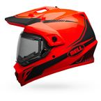 Orange/Black MX-9 Adventure Snow Torch Helmet w/Electric Shield - 7090652