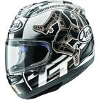 Black/White/Gray Corsair-X Isle of Man 2017 Helmet - 807683
