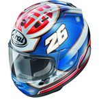 Red/Blue Corsair-X Pedrosa Samurai Helmet - 820303