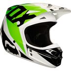 White/Black/Green V1 Race Helmet - 19531-129-S