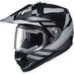 Black/Gray DS-X1 Lander MC-5 Snow Helmet w/Frameless Electric Shield - 013-952