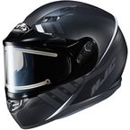 Semi-Flat Black/Gray CS-R3SN Space MC-5SF Helmet w/Frameless Electric Shield - 037-754