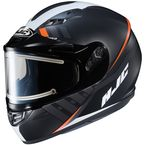 Semi-Flat Black/White CS-R3SN Space MC-7SF Helmet w/Frameless Electric Shield - 037-774
