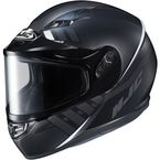 Semi-Flat Black/GrayCS-R3SN Space MC-5SF Helmet w/Frameless Dual Lens Shield - 137-754