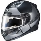 Semi-Flat Black/Gray CL-17SN Boost MC-5SF Helmet w/Frameless Electric Shield - 153-754
