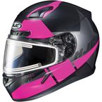 Semi-Flat Black/Pink/Gray CL-17SN Boost MC-8SF Helmet w/Frameless Electric Shield - 153-784