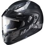 Semi-Flat Black/Gray CL-Max2SN Friction MC-5SF Helmet w/Framed Electric Shield - 197-754