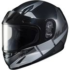Youth Semi-Black/Gray CL-YSN Boost MC-5SF Helmet w/Framed Dual Lens Shield  - 237-754
