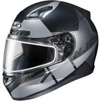 Semi-Flat Black/Gray CL-17SN Boost MC-5SF Helmet w/Frameless Dual Lens Shield - 853-754