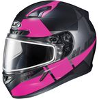 Semi-Flat Black/Pink CL-17SN Boost MC-8SF Helmet w/Frameless Dual Lens Shield - 853-784