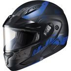 Semi-Flat Black/Blue CL-Max2 Friction MC-21SF Helmet w/Framed Dual Lens Shield - 997-724