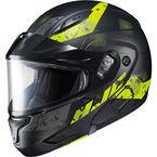 Semi-Flat Black/Hi-Viz CL-Max2 Friction MC-3HSF Helmet w/Framed Dual Lens Shield - 997-734