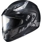 Semi-Flat Black/Gray CL-Max2 Friction MC-5SF Helmet w/Framed Dual Lens Shield - 997-754