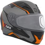 Matte Black/Gray/Orange RR610 Insert Snow Helmet - 503364#