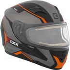 Matte Black/Gray/Orange RR610 Insert Snow Helmet w/Electric Shield - 503416#