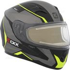 Matte Black/Gray/Yellow RR610 Insert Snow Helmet w/Electric Shield - 503423#