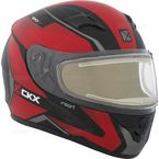 Matte Red/Black/Gray RR610 Insert Snow Helmet w/Electric Shield - 503444#