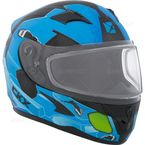 Youth Matte Blue/Black/Green RR610Y Cosmos Snow Helmet - 506214#