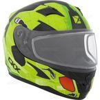 Youth Matte Green/Black/Red RR610Y Cosmos Snow Helmet - 506223#